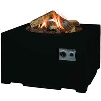 Happy Cocooning Square Cocoon Fire Pit - Black
