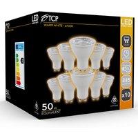 TCP Professional GU10 345lm 4.5W 50W EQ Warm White Spotlight Bulbs  10 Pack