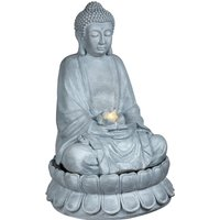 The Outdoor Living Company 86cm Buddha Water Feature with Warm White LED Light
