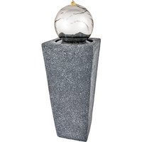 The Outdoor Living Company Tower Water Feature with Stainless Steel Orb and LEDs H78 x 26x26cm