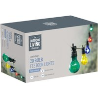 The Outdoor Living Company 20 Bulb Festoon Party Lights -  Multi-Coloured