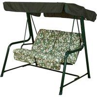 Glendale Cotswold Leaf Vienna 2 Seater Hammock Swing Seat - Green