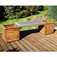 Charles Taylor Deluxe Planter Bench with Grey Cushion
