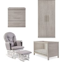 Ickle Bubba Grantham 5 Piece Bundle incl Sprung Mattress Grey Oak