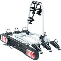 HOMCOM 3 Bicycle Carrier Rear-mounted SUV Mountain Hitch Mounted Rack - Black and Silver