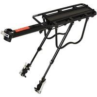 HOMCOM Aluminum Bike Carrier Rack - Black