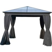 Katie Blake Aspen 3m x 4m Gazebo with Polycarbonate Roof - Grey