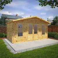 Mercia 5m x 3m 28mm Wall Retreat Log Cabin
