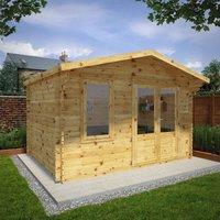 Mercia 4m x 3m 34mm Wall Double Glazed Retreat Log Cabin