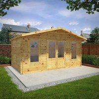 Mercia 5m x 3m 34mm Wall Double Glazed Retreat Log Cabin