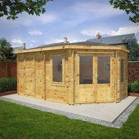 Mercia 5m x 3m 28mm Wall Corner Lodge Plus