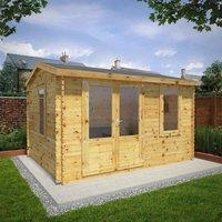 Mercia 4m x 3m 28mm Wall Home Office Elite Cabin