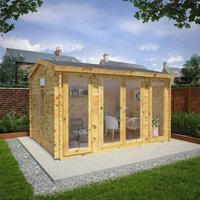 Mercia 4m x 3m 28mm Wall Home Office Director Cabin