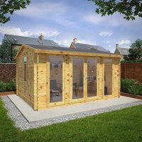 Mercia 4.5m x 3.5m 34mm Wall Home Office Director Log Cabin