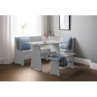 Julian Bowen Newport Corner Dining Set With Storage Bench Dove Grey
