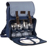 Three Rivers Insulated 4 Person Filled Picnic Backpack