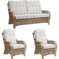 Desser Turin Light Oak 3 Seater Suite