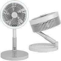 Beldray Cordless Foldable 3 in 1 LED Fan - Grey