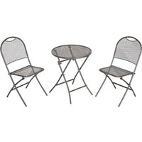 MWH Cafe Latte Bistro Garden Set - Grey