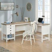 Teknik Shaker Style L-Shaped Desk - Soft White