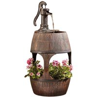 Serenity Barrel 2 in 1 Water Feature and Planter
