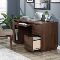 Teknik Elstree Executive Desk - Spiced Mahogany Finish