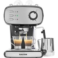 Salter EK4369 Caffe Barista Pro Espresso Maker - Silver