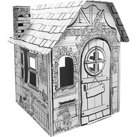 Ricco My Garden House Kids 3D Cardboard Playhouse for Colouring and Pretended Play