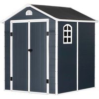 Outsunny Metal Garden Storage Shed - Grey