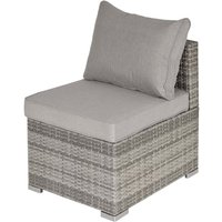 Outsunny Modular Rattan Armless Chair - Grey