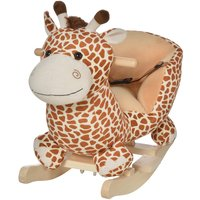 Jouet Kids Plush Rocking Giraffe with Sound- Yellow
