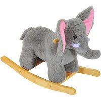 Jouet Kids Plush Ride On Rocking Elephant with Songs - Grey
