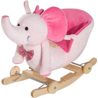 Jouet Kids 2 in 1 Rocking Elephant with Wheels and Sound - Pink