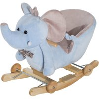Jouet Kids 2 in 1 Rocking Elephant with Wheels and Sounde - Blue
