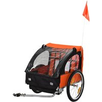Reiten Kids Steel Frame 2-Seater Bicycle Trailer - Orange/Black