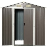 Outsunny Corrugated Metal Garden Storage Shed