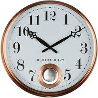 Premier Housewares Chic Metal Wall Clock - Copper Finish