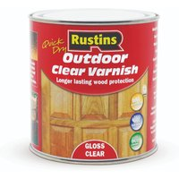 Rustins Outdoor Clear Varnish Gloss 1L