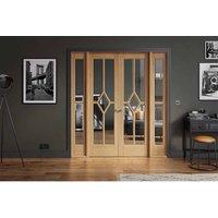 LPD Doors LPD Room Divider Oak Reims W6 Internal Room Divider D3.5 xW190.4 xH203.1cm