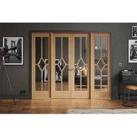 LPD Doors LPD Room Divider Reims Oak W8 Internal Room Divider D3.5 xW247.8 xH203.1cm