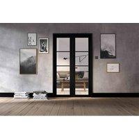 LPD Doors LPD Room Divider Black Soho W4 Internal Room Divider D3.5 xW124.6 xH203.1cm