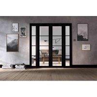 LPD Doors LPD Room Divider Black Soho W6 Internal Room Divider D3.5 xW190.4 xH203.1cm