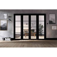 LPD Doors LPD Room Divider Black Soho W8 Internal Room Divider D3.5 xW247.8 xH203.1cm