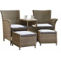 Wentwoth 2 Seater Bistro Set Natural