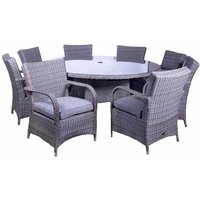 Royalcraft Parisian Deluxe 8 Seater Dining Set - Grey