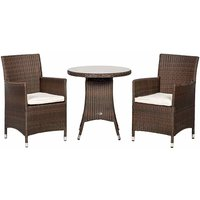 Royalcraft Cannes 2 Seater Bistro Set - Brown