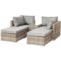 Royalcraft Wentworth 4 Seater 5pc Multi Setting Relaxer Set