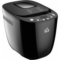 HOMCOM 800-077 550W 12-in-1 Programmed Digital Bread Maker - Black