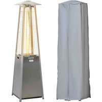 Outsunny 11.2kw Pyramid Gas Patio Heater - Silver