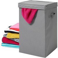 H & L Russel H&L Russel Heavy Duty Laundry Box with Lid - Grey